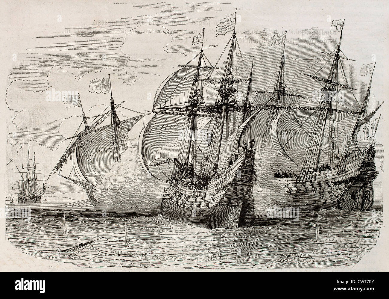 Seeschlacht Stockbild