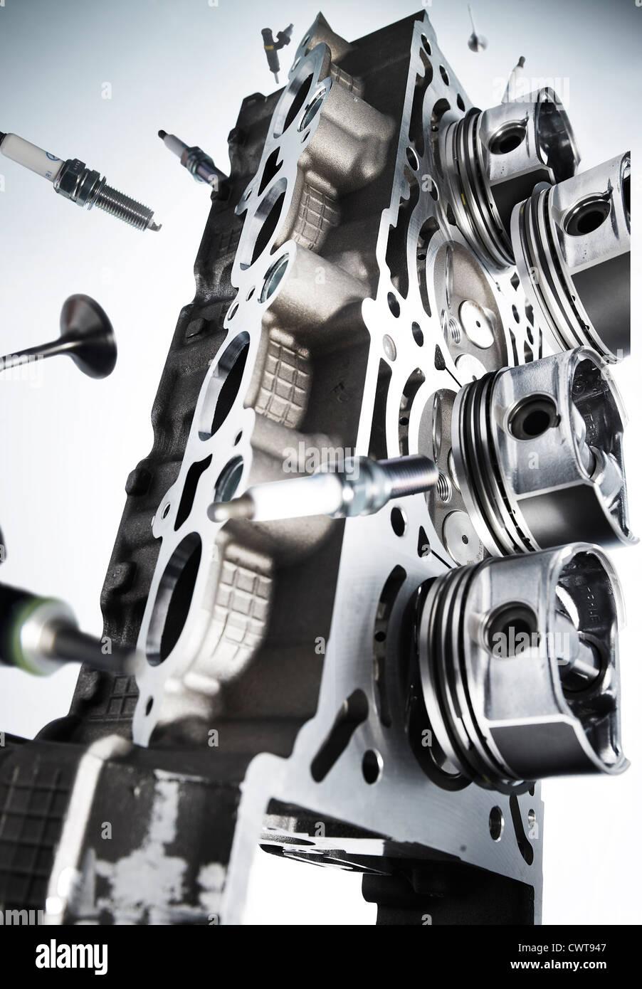 Auto-Motor-Block und Teile Stockfoto, Bild: 50321159 - Alamy