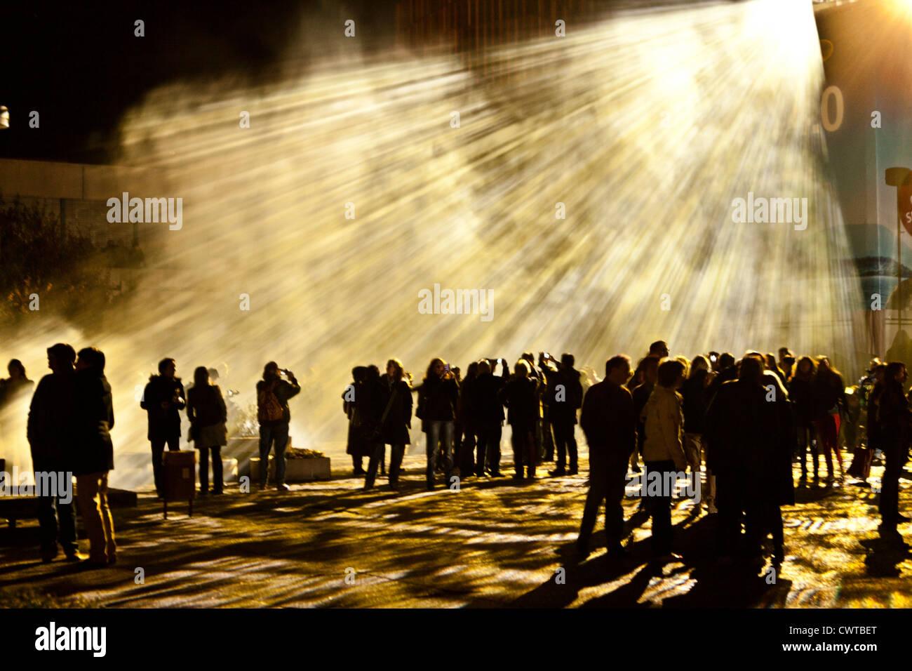 Menschen bei der Luminale, Frankfurt Am Main, Deutschland Stockbild