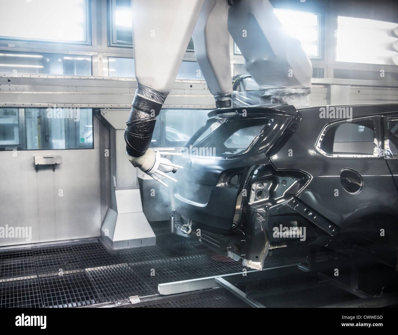 industrial robot stockfotos industrial robot bilder alamy. Black Bedroom Furniture Sets. Home Design Ideas