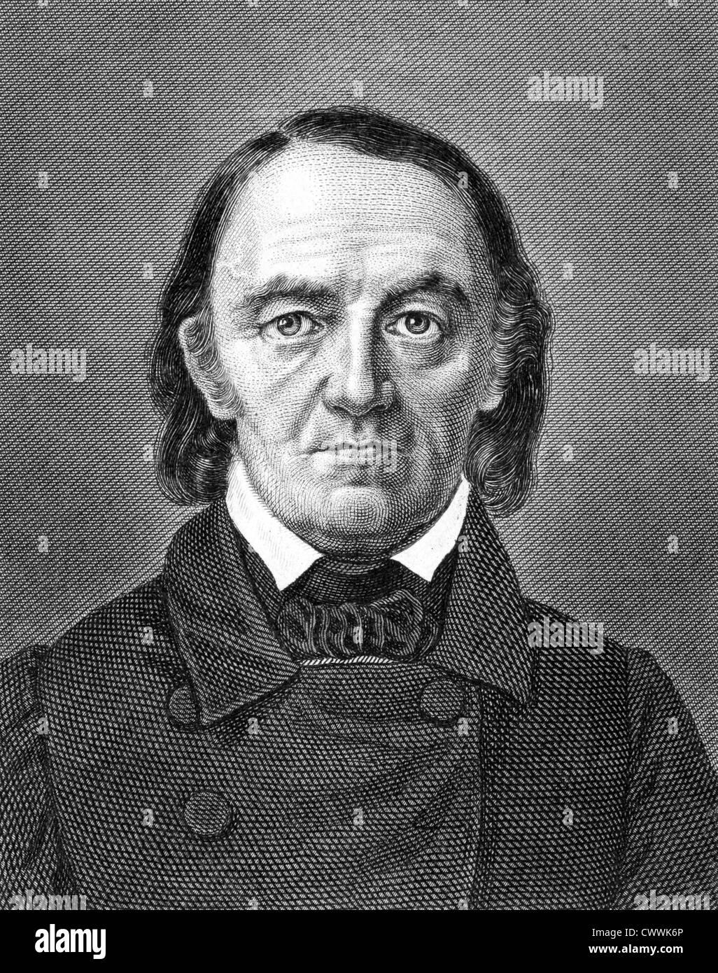 Carl Barth (1787-1853) auf Kupferstich aus dem Jahr 1859. Deutscher Zeichner und Kupferstecher. Stockbild
