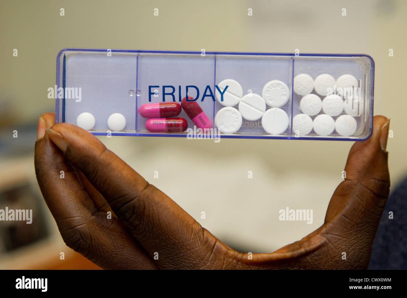 Pillen Kapsel Stockbild