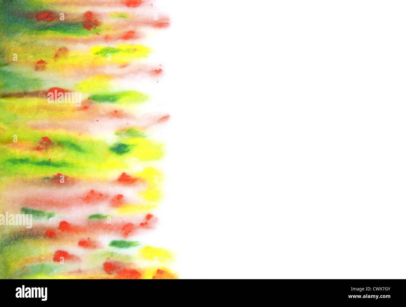 Abstrakte handgezeichneten Aquarell Hintergrund Stockbild