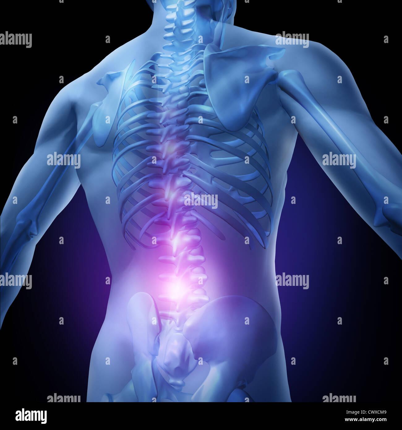 Schmerzen im unteren Rücken und menschlichen Rückenschmerzen mit ...