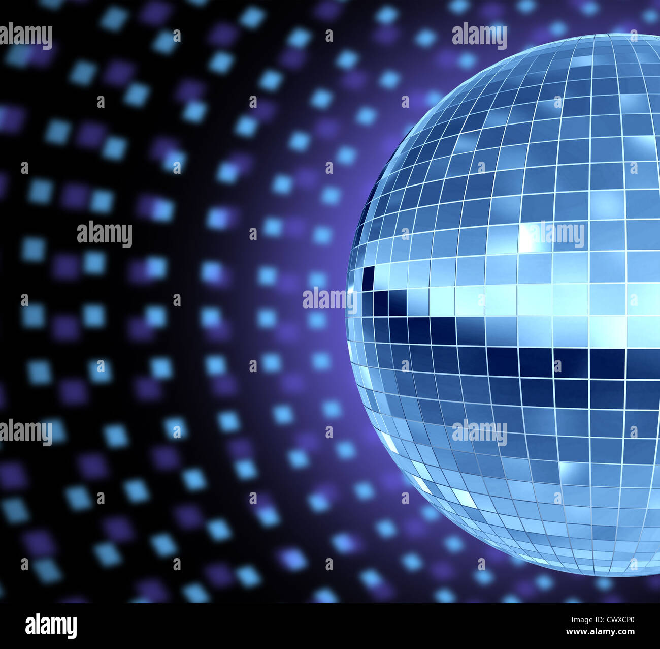 Tanz Party Dj Kultur Mit Einer Disco Spiegel Kugel Reflektierende
