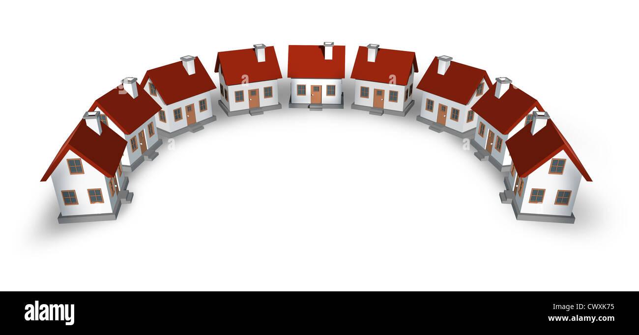 Immobilien Design Element Und Wohngemeinde Kreis Bogen Nachbarschaft