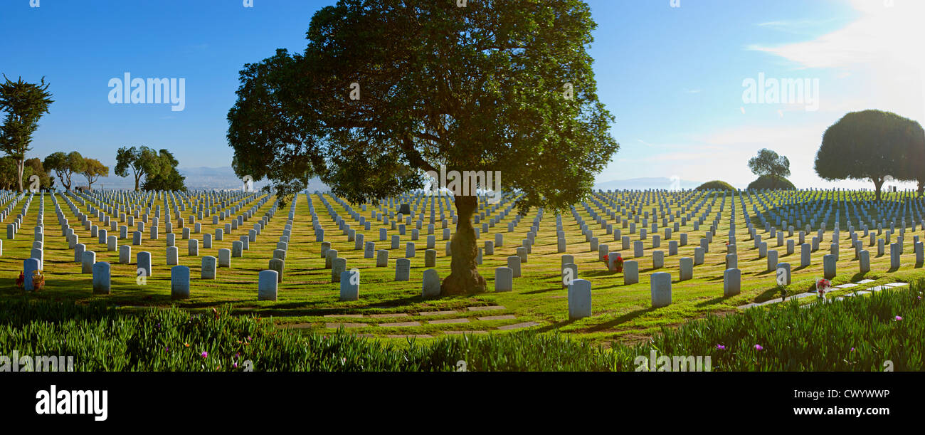 San Diego Kalifornien Fort Rosecrans National Cemetery Stockbild