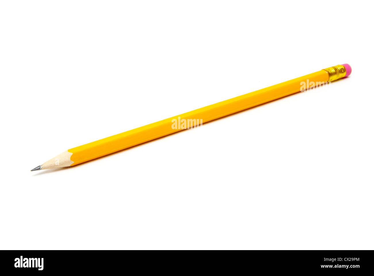 Bleistift isoliert auf weißem Hintergrund Stockbild