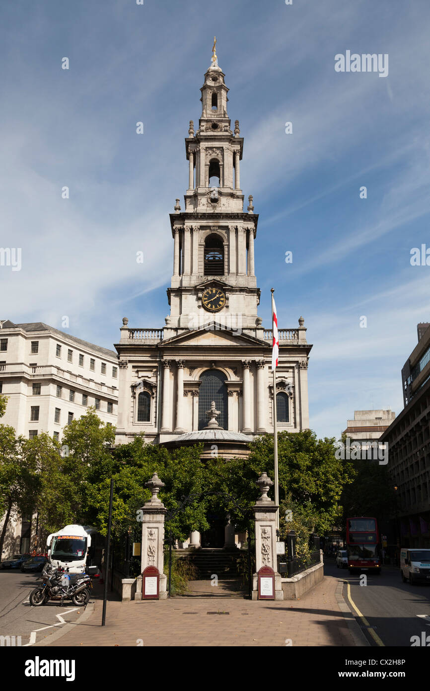 Kirche St. Mary-le-Strand in London. Stockbild