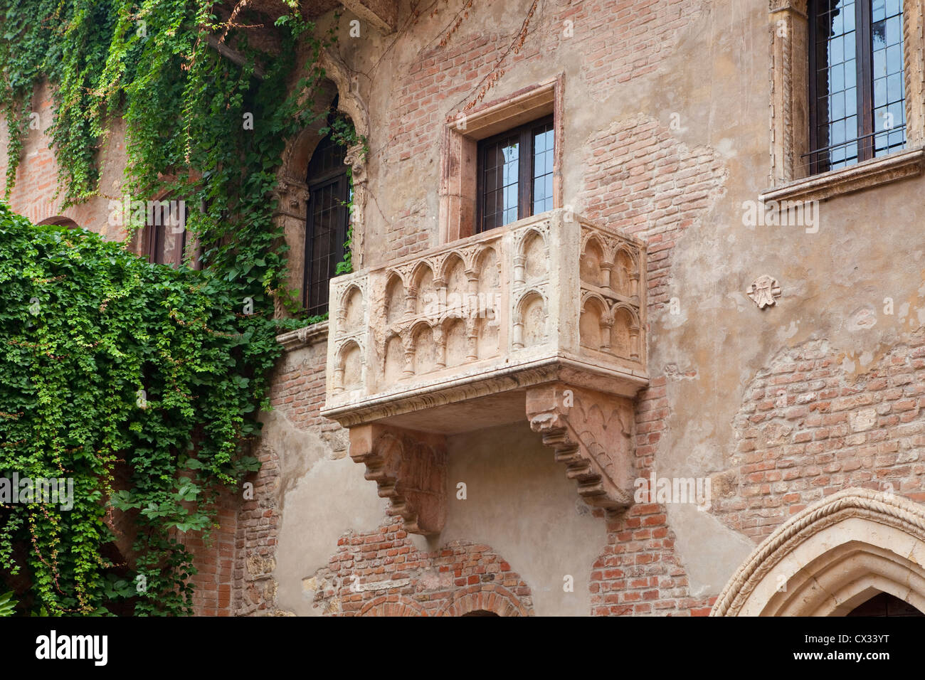 Italien Toskana Verona Balkon Von Romeo Und Julia Stockfoto