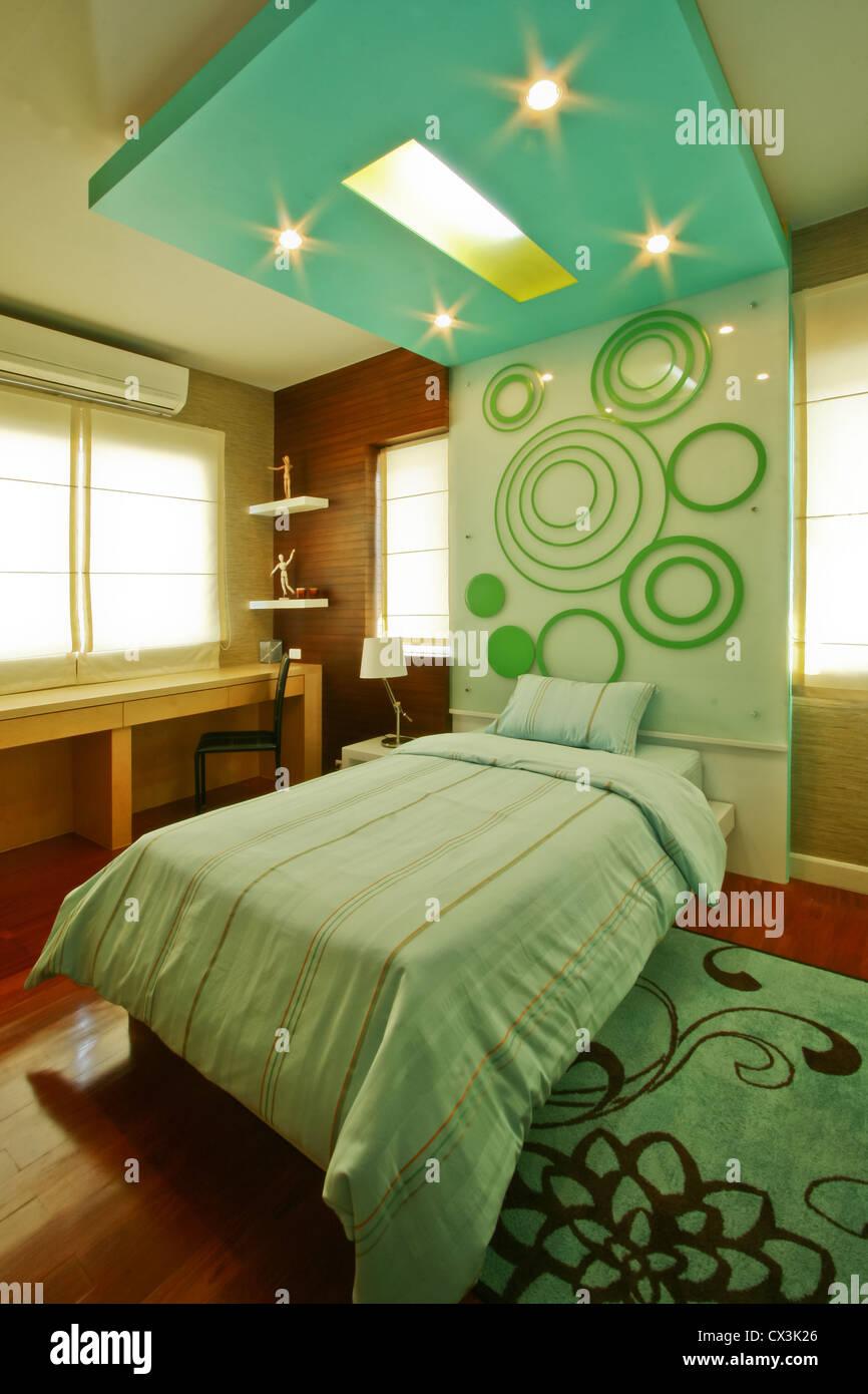 Kinder-Schlafzimmer Stockbild