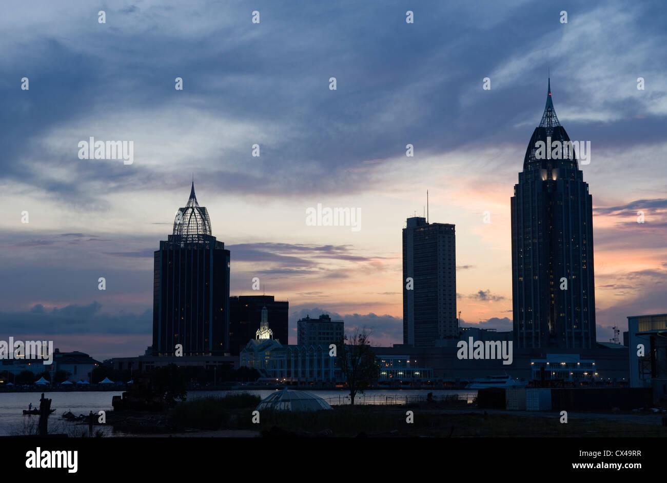 RSA SCHLACHT HAUS HOCHHAUS SKYLINE INNENSTADT MOBILE ALABAMA USA Stockfoto