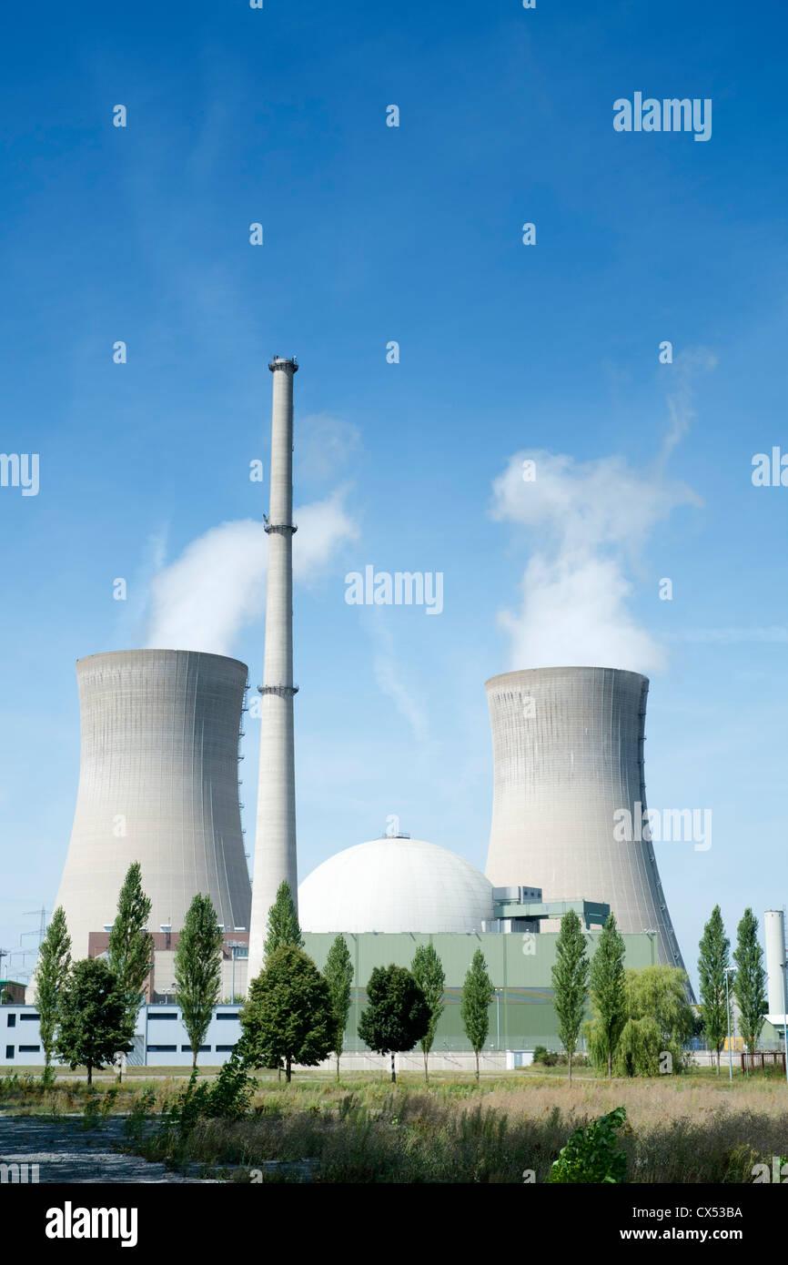 Kernkraftwerk Grafenrheinfeld in Deutschland Stockbild