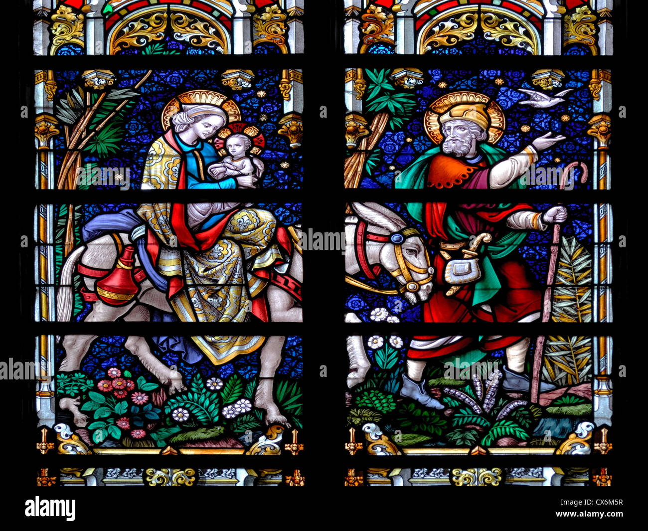 Mary and joseph journey stockfotos mary and joseph for Fenster joseph