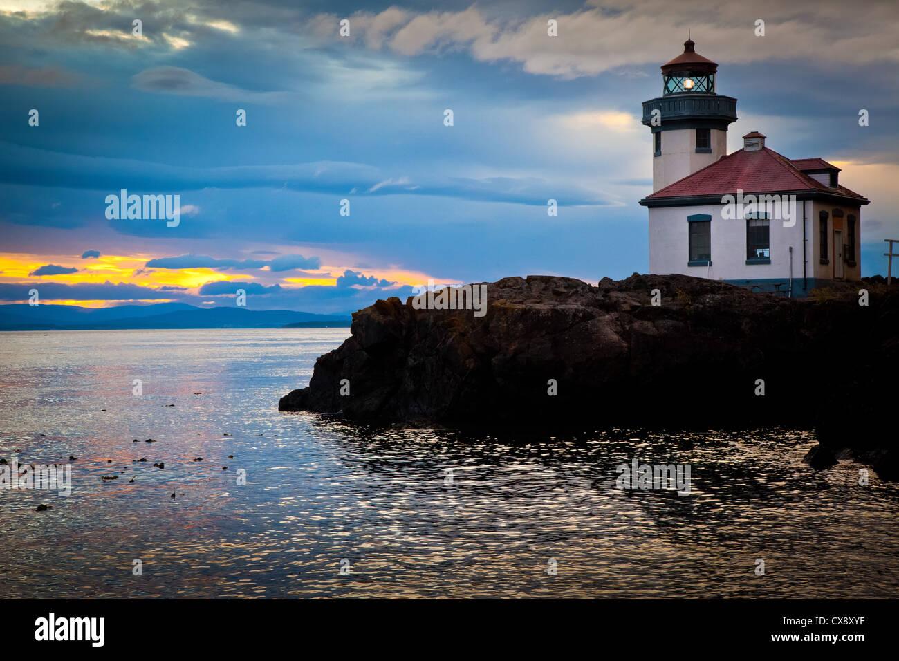 Kalk-Brennofen-Leuchtturm auf San Juan Island, Washington Stockfoto