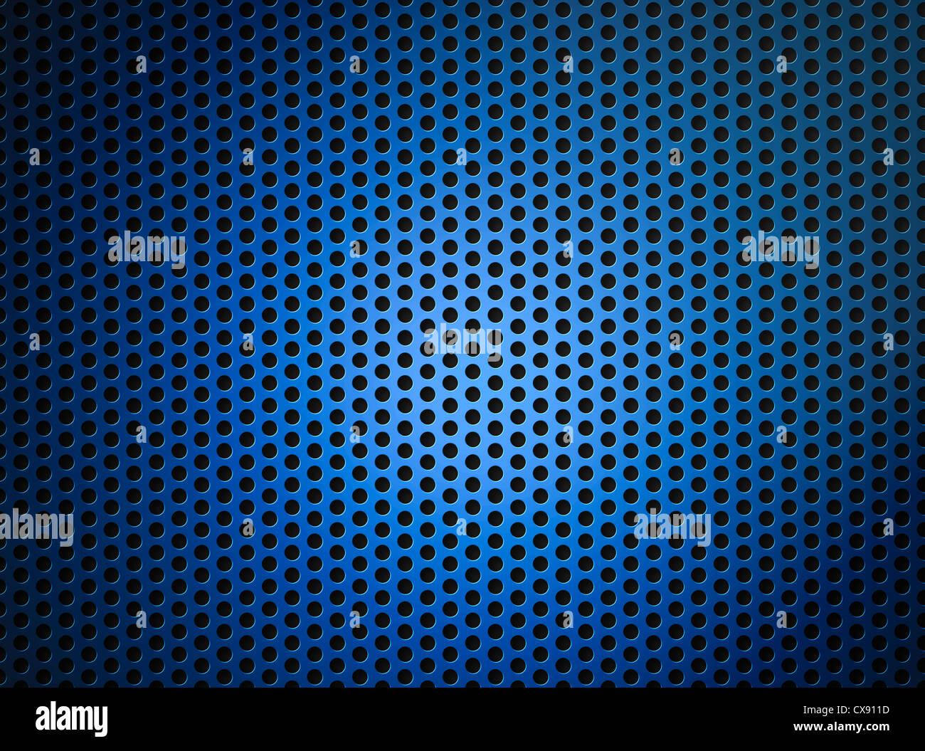 blau metallic Raster oder Gitter Hintergrund Stockbild
