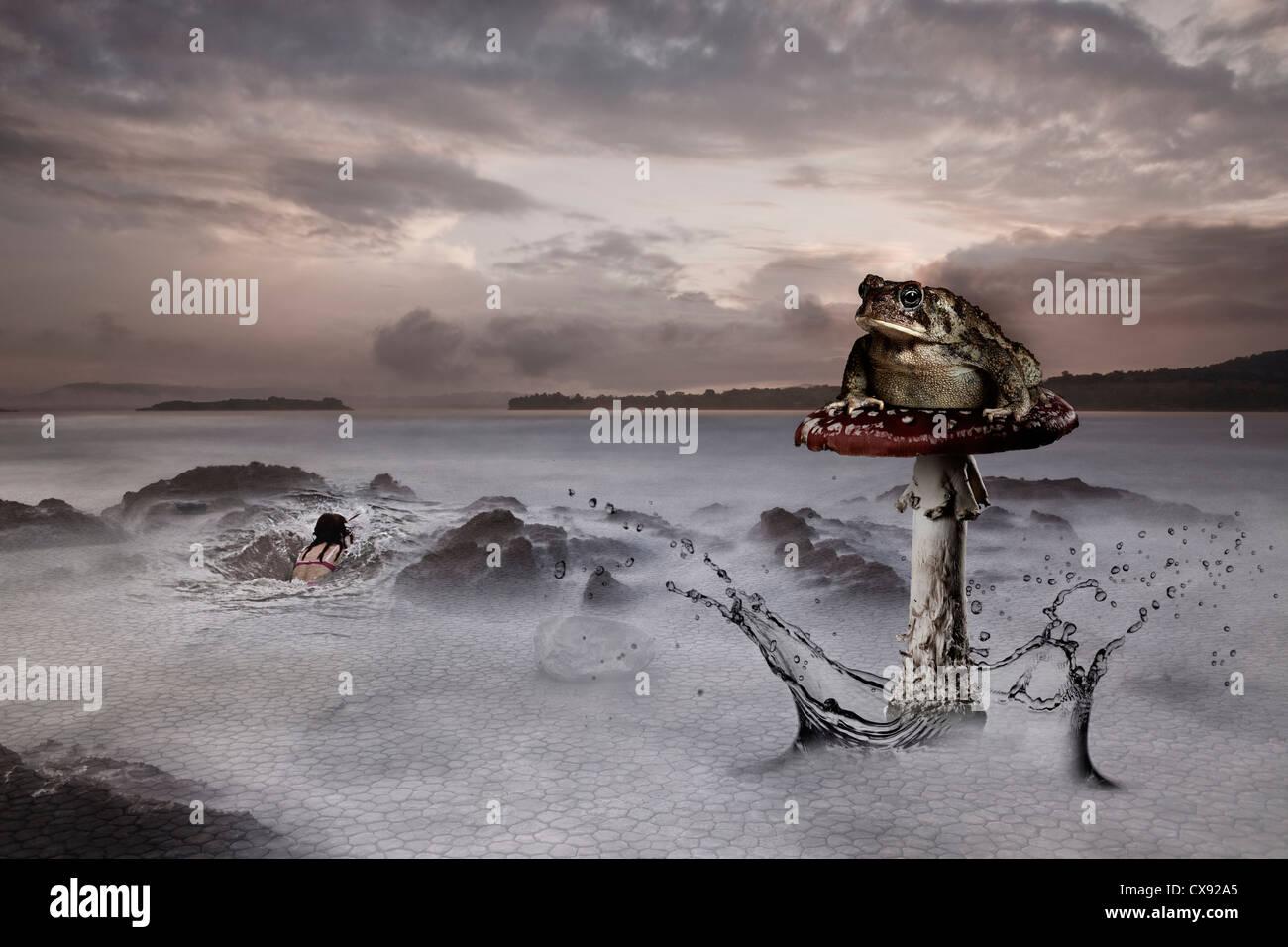 Keltische Folk-Lore - Cletic-Kultur - Wellness Heilung natürlichen Quellen Surrealismus Stockbild