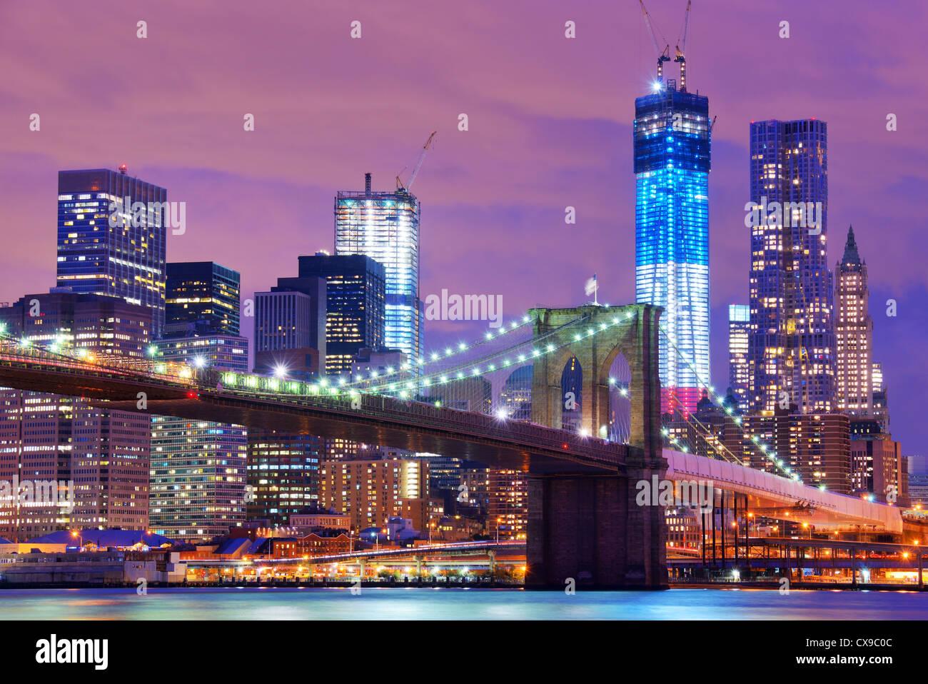 Brooklyn Brücke in New York City. Stockbild