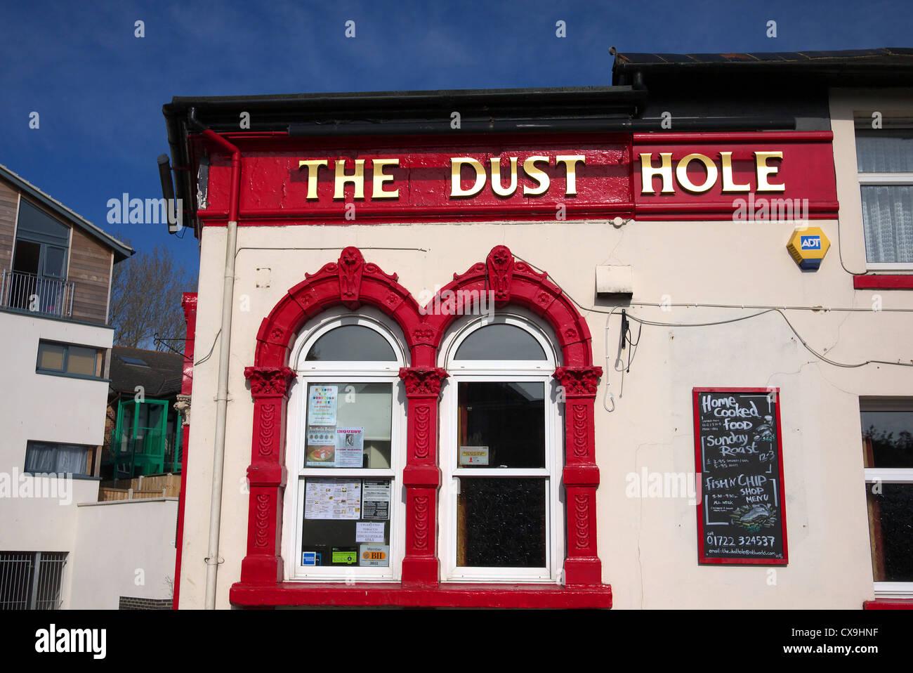 Der Staub Loch Pub, Salisbury, UK. Stockbild