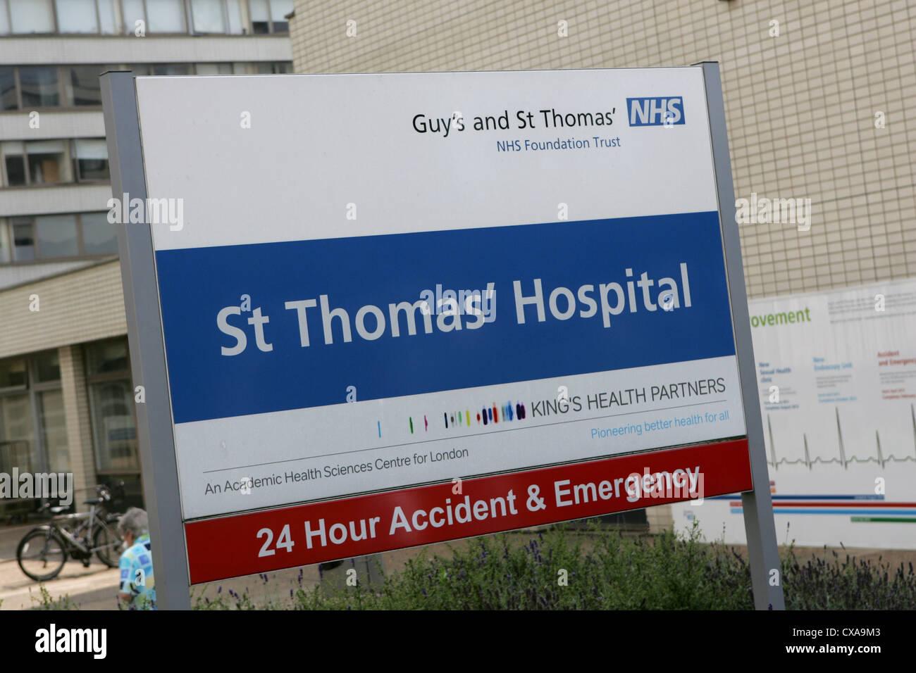 Guy es and St Thamas NHS Hospital - Juli 2012 in London Stockbild