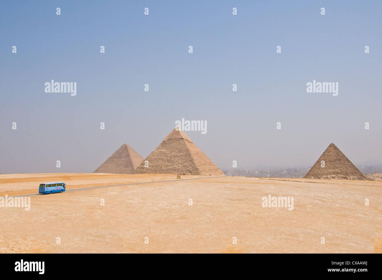 Pyramiden von Gizeh Kairo Ägypten Stockbild