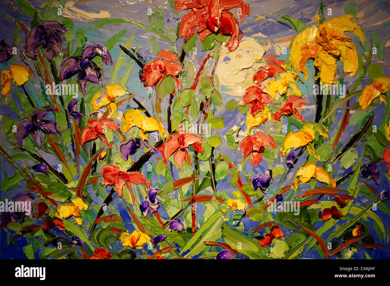 Olgemalde Flora Blumen Kunst Eignung Kunsthandwerk Handwerkskunst Kreativitat Kompetenz Fantasie Stockfotografie Alamy