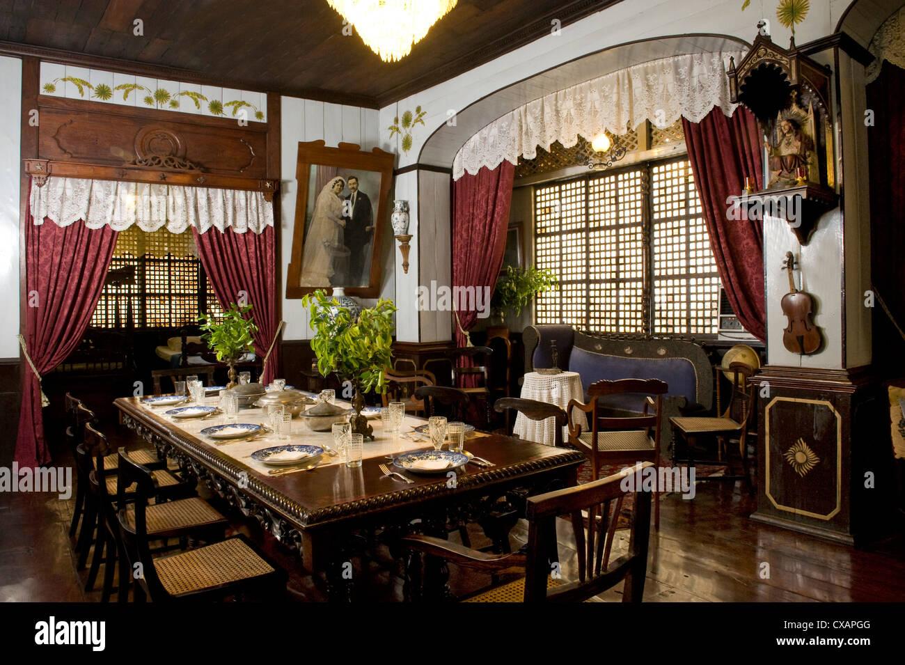 Villa Tortuga, ein Gästehaus in einem restaurierten 19. Jahrhundert Erbe Haus, Taal, Batangas, Philippinen, Stockbild