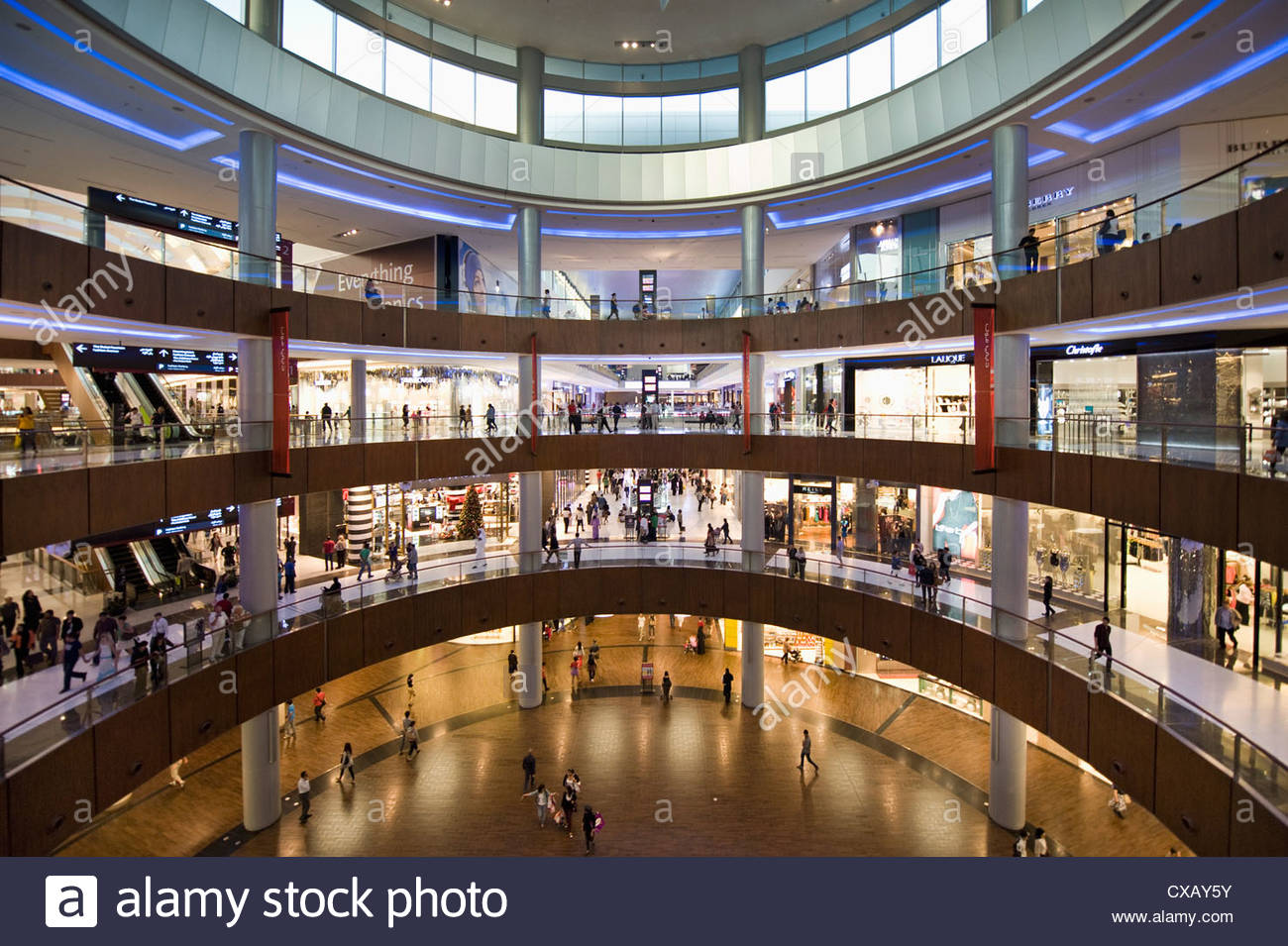 Dubai Mall, Dubai, Vereinigte Arabische Emirate, Naher Osten Stockbild