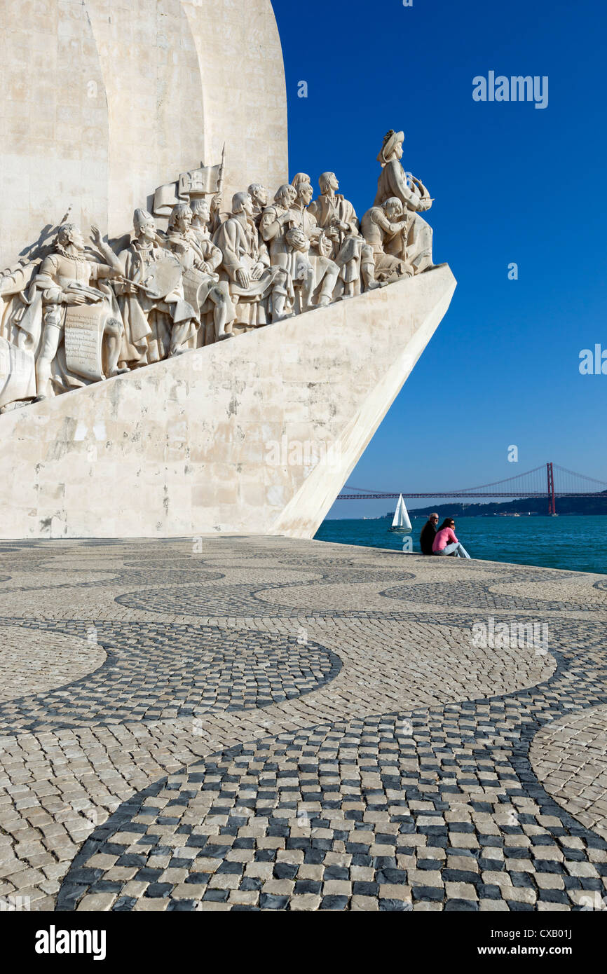 Denkmal der Entdeckungen, Belem, Lissabon, Portugal, Europa Stockbild