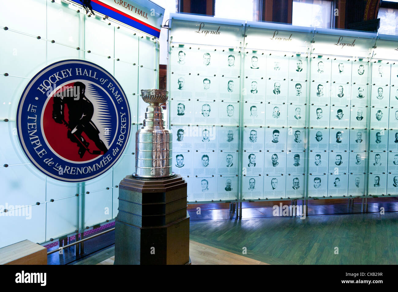 Hockey Hall Of Fame in Toronto, Ontario, Kanada, Nordamerika Stockbild
