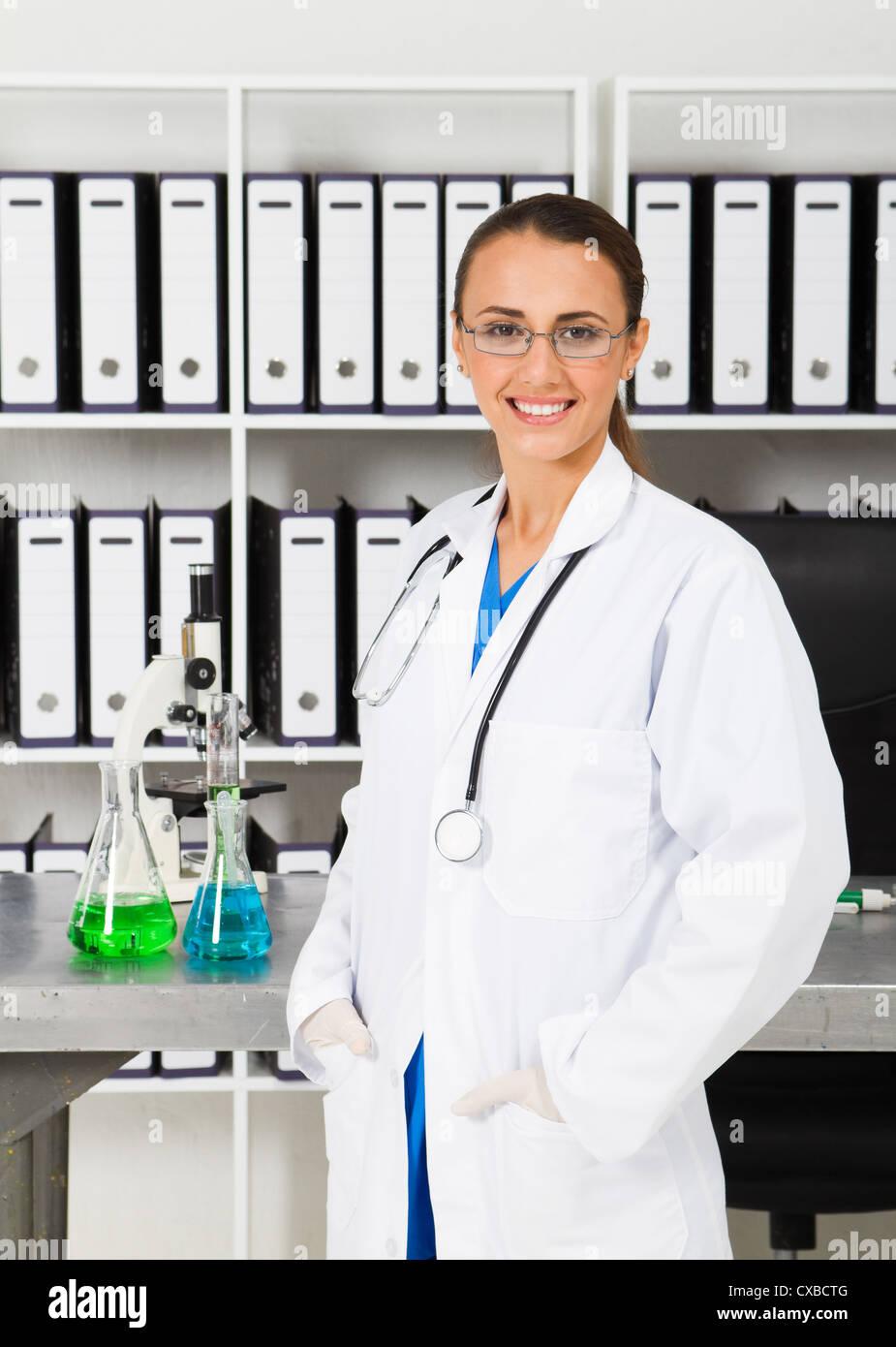 medizinische Forscher im Labor Stockbild