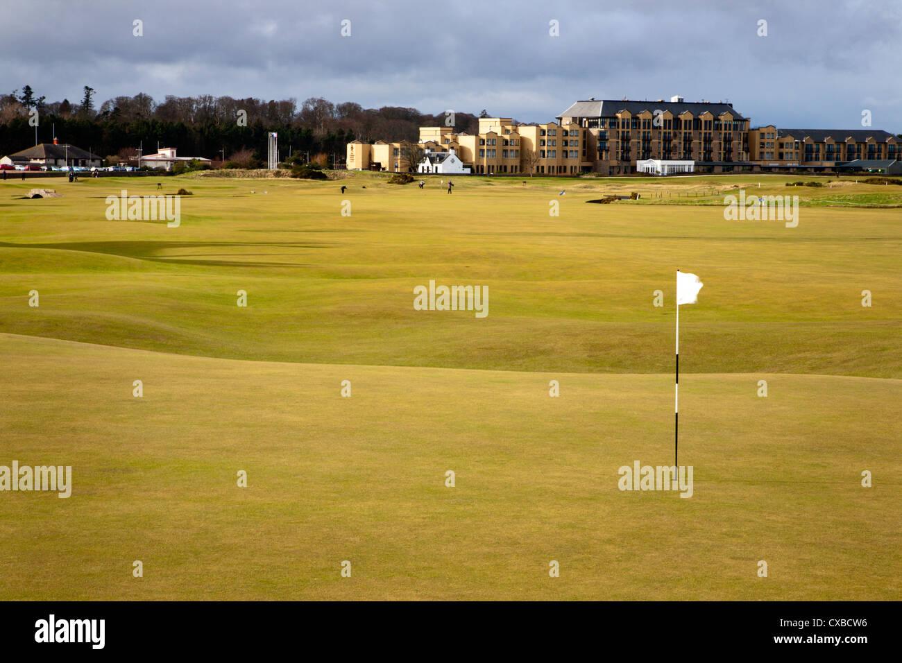 18. Loch am Old Course, St. Andrews, Fife, Schottland, Vereinigtes Königreich, Europa Stockbild