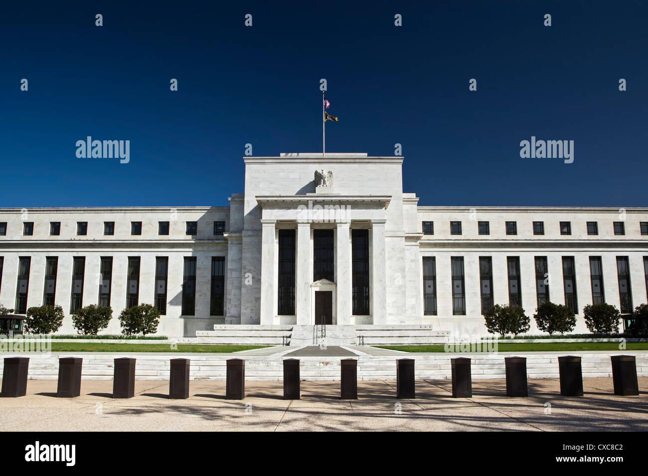 Die United States Federal Reserve Building, Washington D.C., Vereinigte Staaten von Amerika, Nordamerika Stockbild