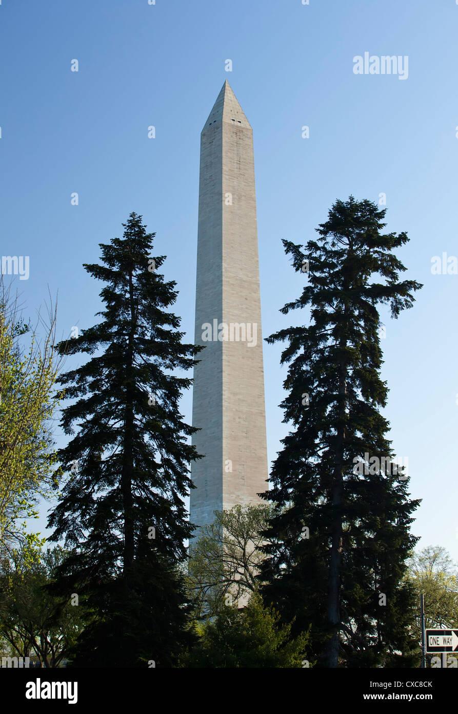 Das Washington Monument, Washington D.C., Vereinigte Staaten von Amerika, Nordamerika Stockbild
