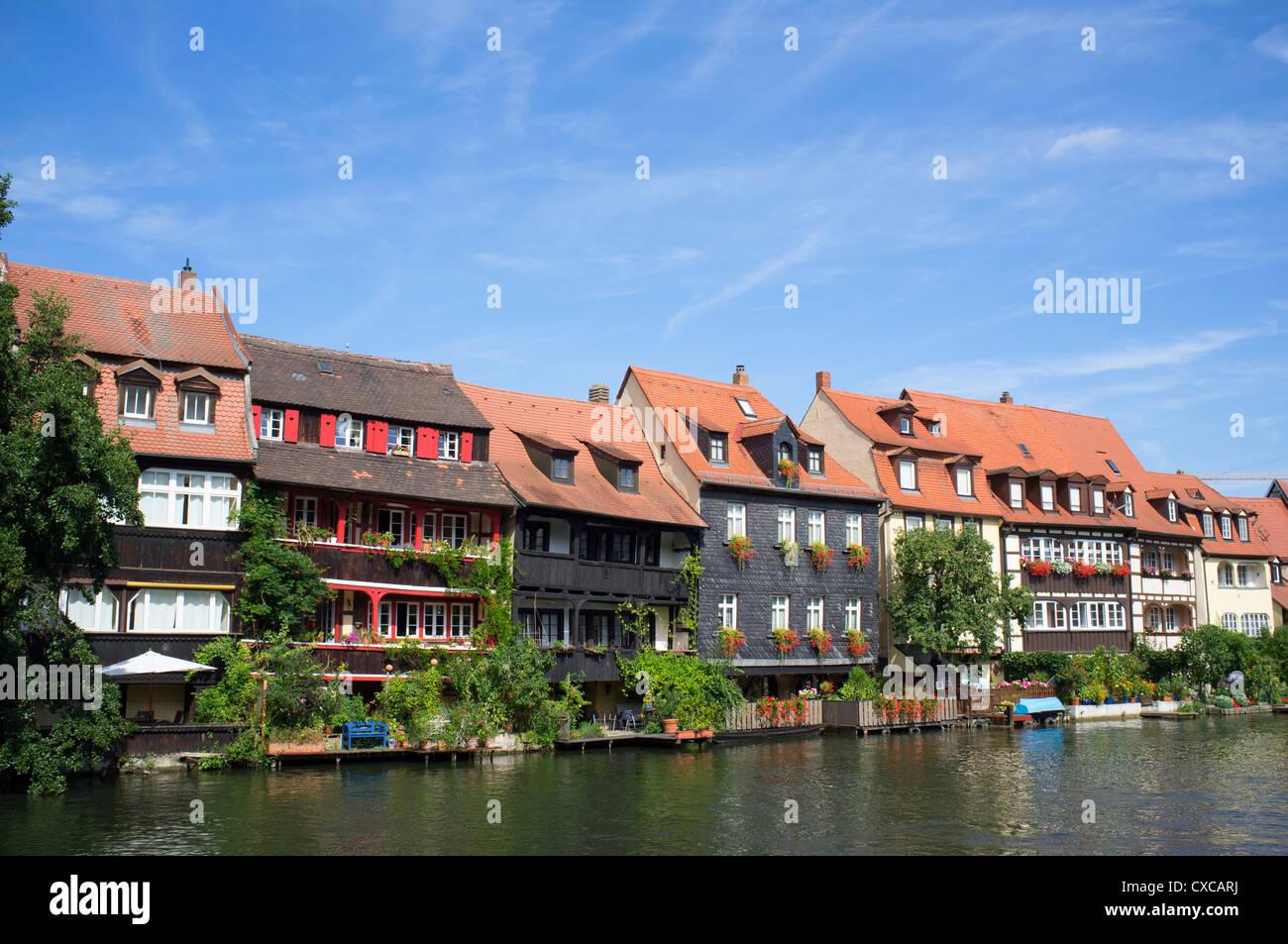 alte h user am wasser in klein venedig in bamberg bayern deutschland stockfoto bild 50673718. Black Bedroom Furniture Sets. Home Design Ideas