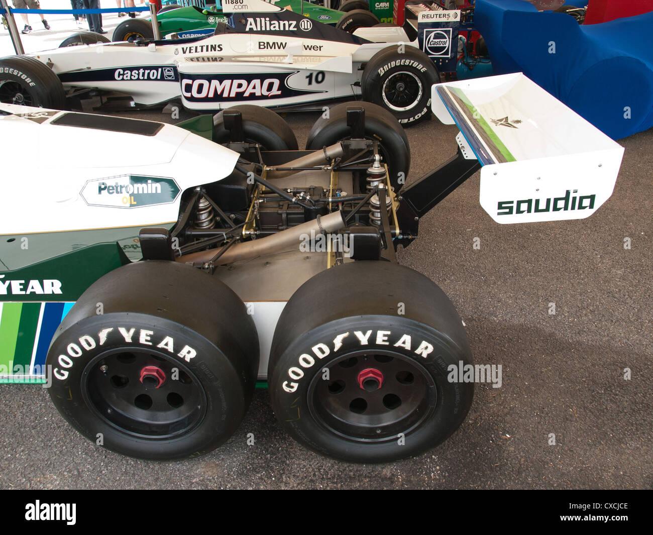 Williams 6 Rad F1 Rennwagen Goodwood Festival Of Speed England UK 2012 Stockbild