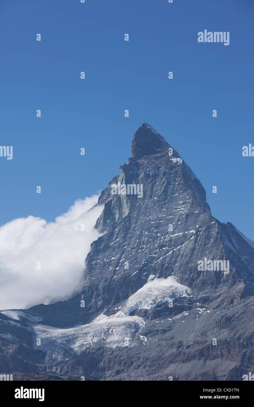 Matterhorn, Zermatt, Kanton Valais, Schweizer Alpen, Schweiz, Europa Stockbild