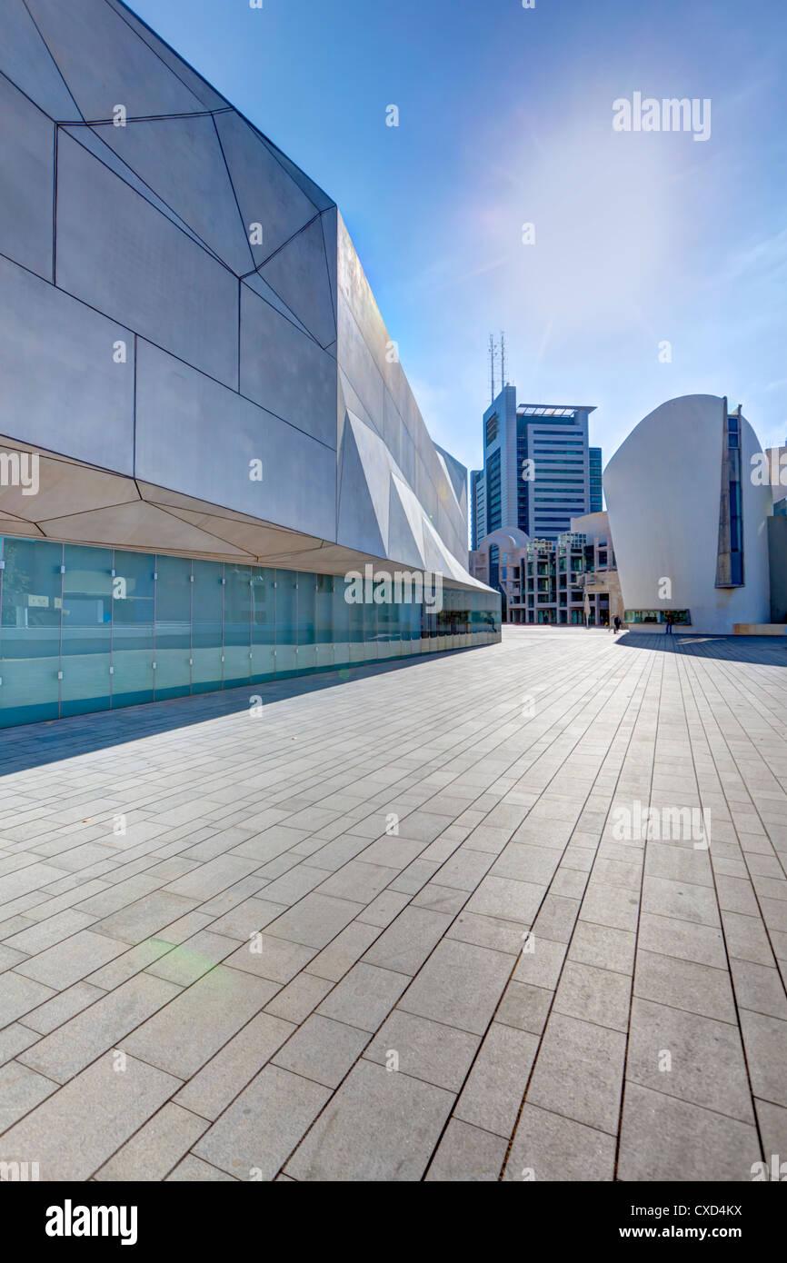 Außenseite des Herta und Paul Amir Neubau des Tel Aviv Museum of Art, Tel Aviv, Israel, Nahost Stockbild