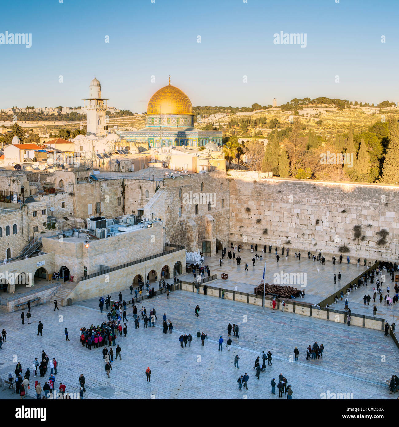 Judenviertel von Western Wall Plaza, Altstadt, UNESCO World Heritage Site, Jerusalem, Israel, Nahost Stockbild