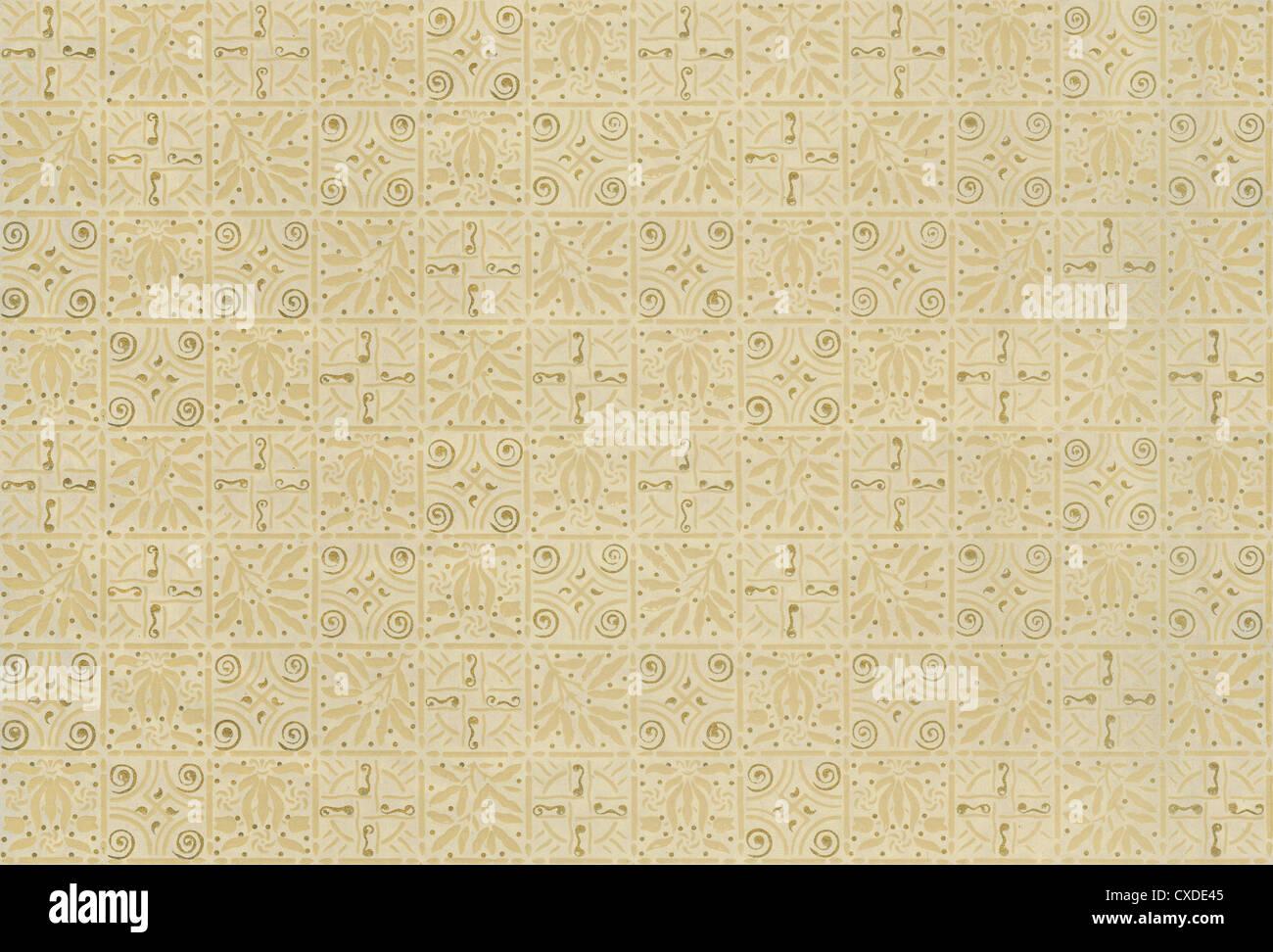 Ca. 1880 s viktorianische Tapete. Dieses authentische Fragment kann wiederholt oder gefliest werden. Stockbild
