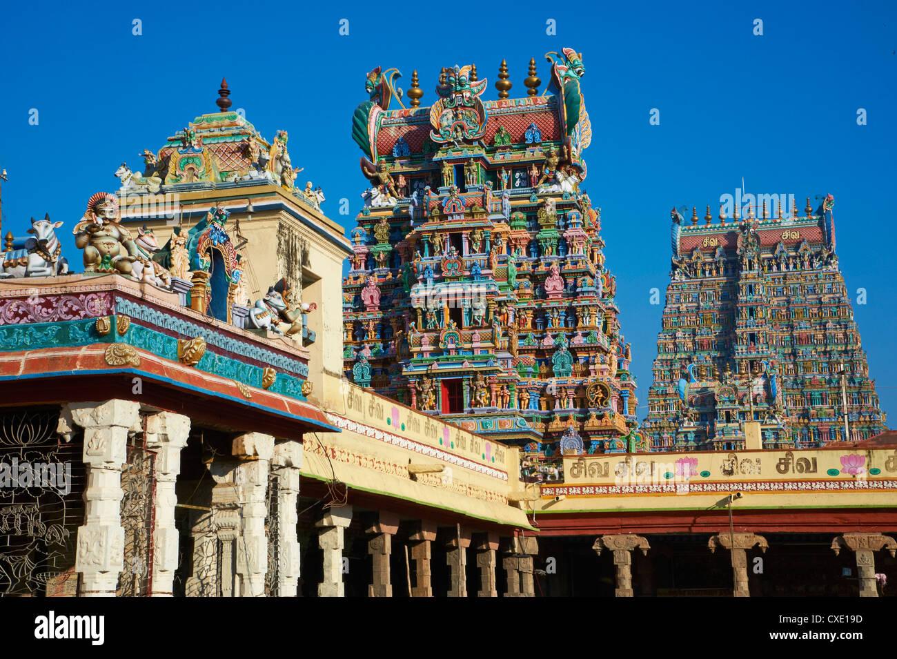 Sri-Meenakshi-Tempel, Madurai, Tamil Nadu, Indien, Asien Stockbild