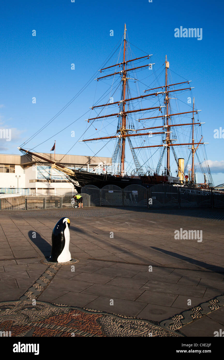 RRS Discovery, Discovery Point, Dundee, Schottland Stockbild