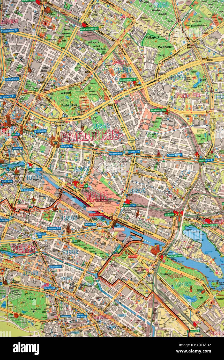 Bau Der Berliner Mauer Karte.1961 Berliner Mauer Stockfotos 1961 Berliner Mauer Bilder Alamy