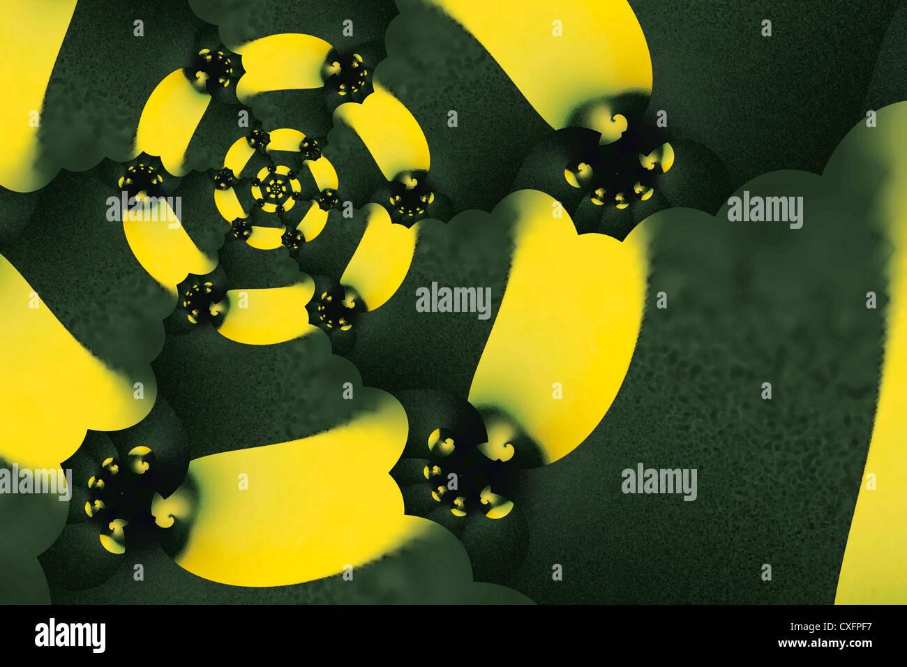 Konvergenz (digital-Effekt) Stockbild