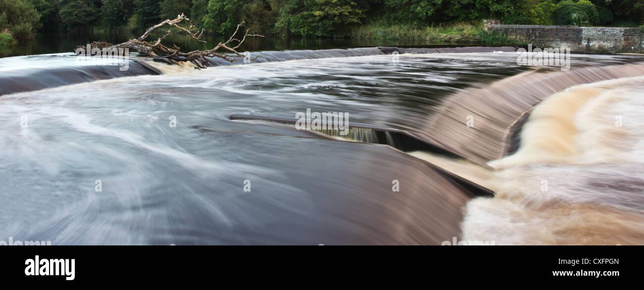 Fluss bei Hochwasser Stockbild