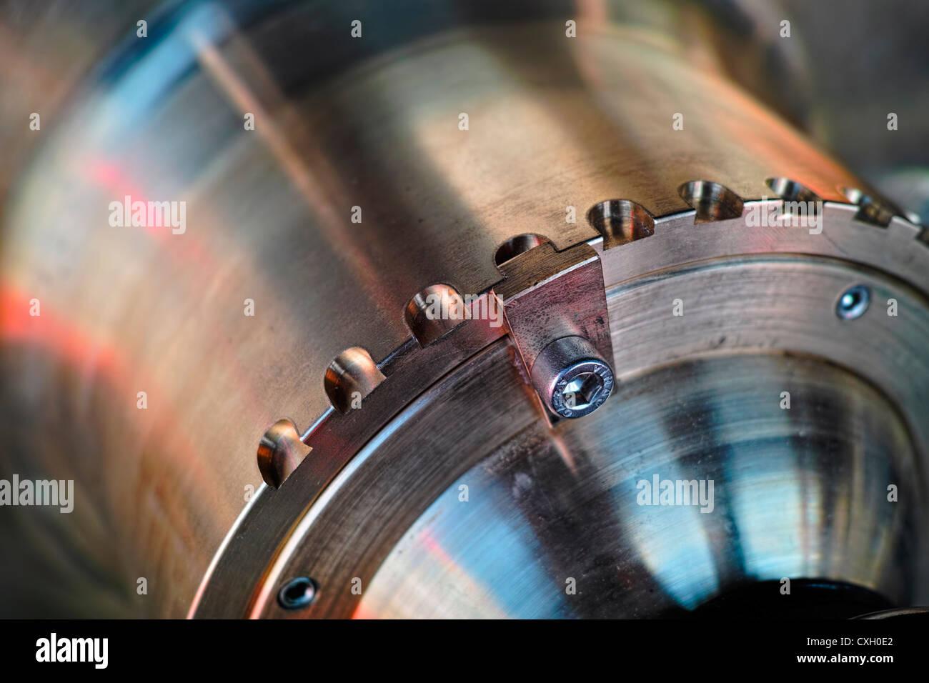 Teil eines marine-Motor-Gehäuses, Makro Stockbild