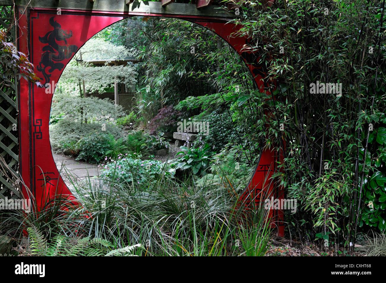 Gartengestaltung Japanischer Garten, japanischer garten rot spiegelrahmen gerahmt spiegeln reflexion, Design ideen
