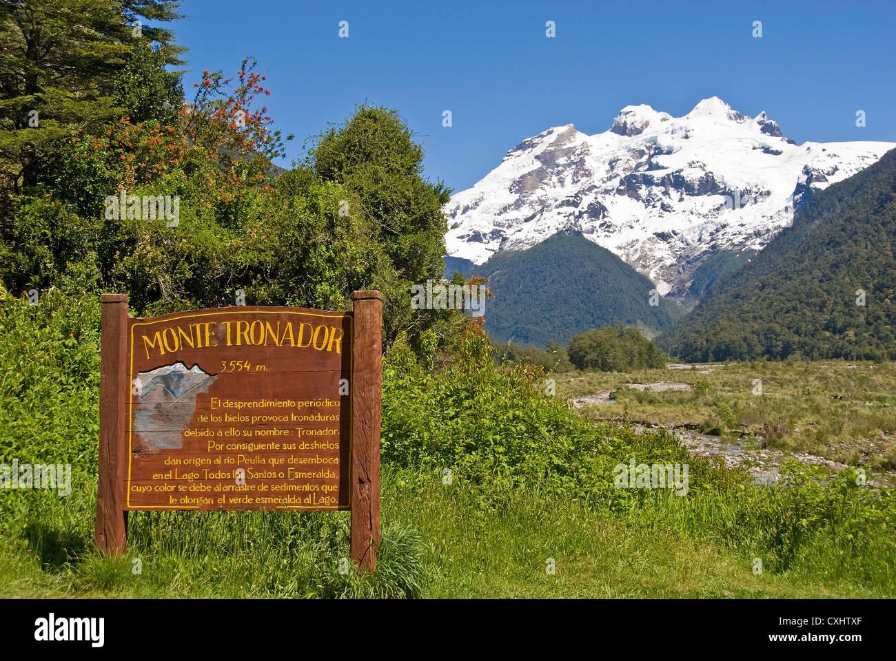 Elk198-3609 Chile, Vicente Perez Rosales Nationalpark, Mount Tronador, Anden Stockbild