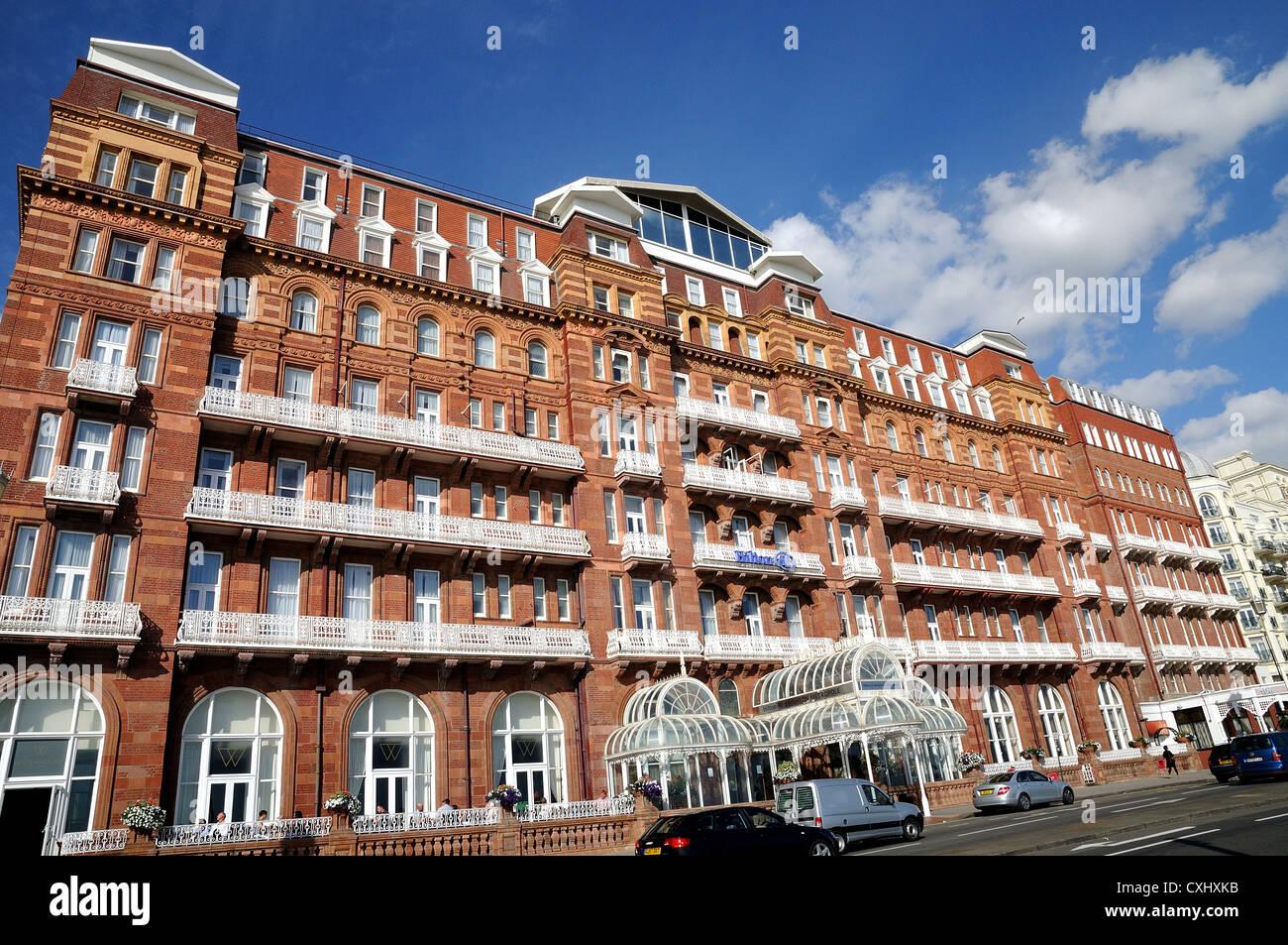 Außenseite des The Metropole Hotel Brighton Sussex Stockbild