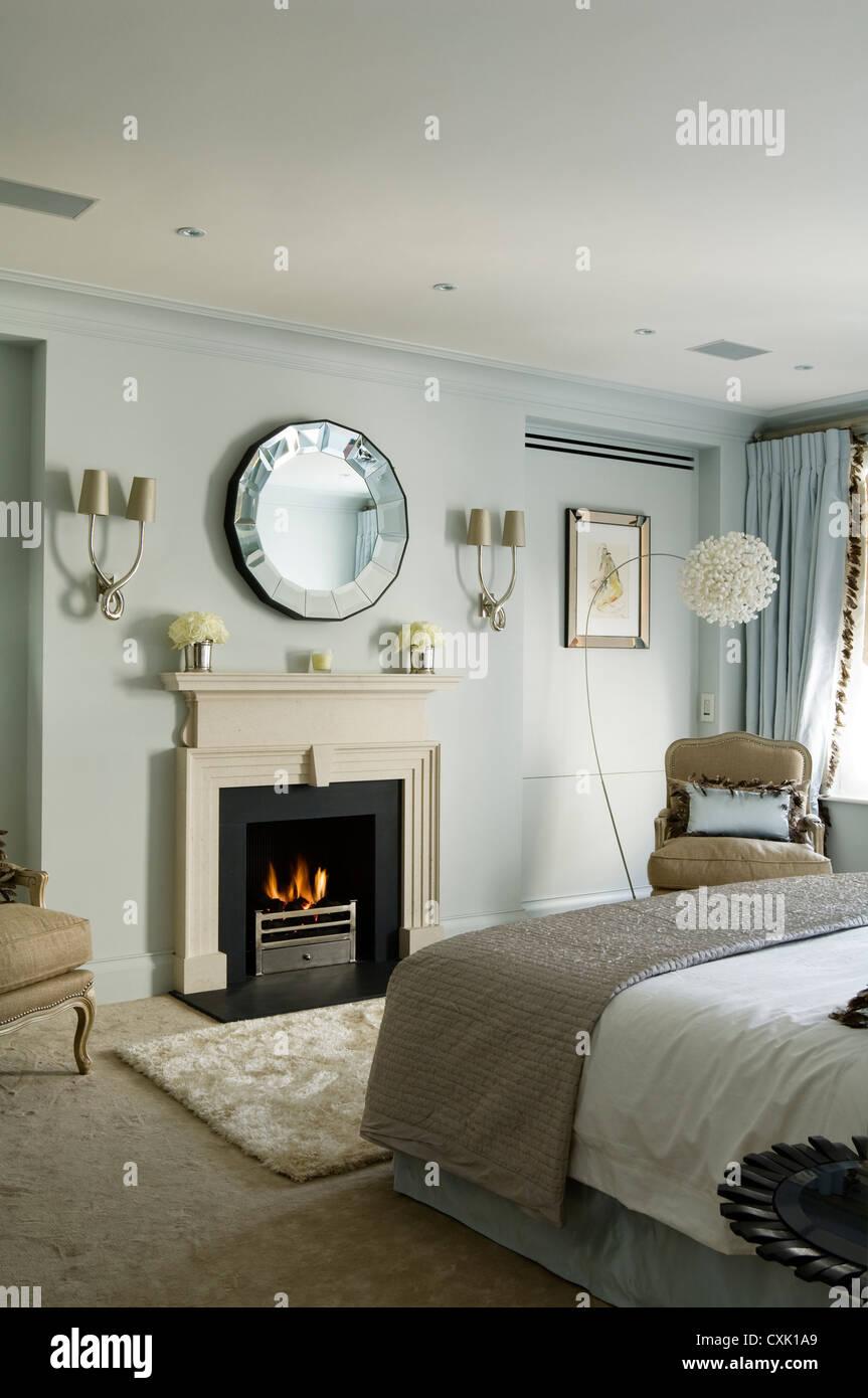 Farbe Tag innen Schlafzimmer Bett Deckel Quilt Luxus Pastell Lampe ...